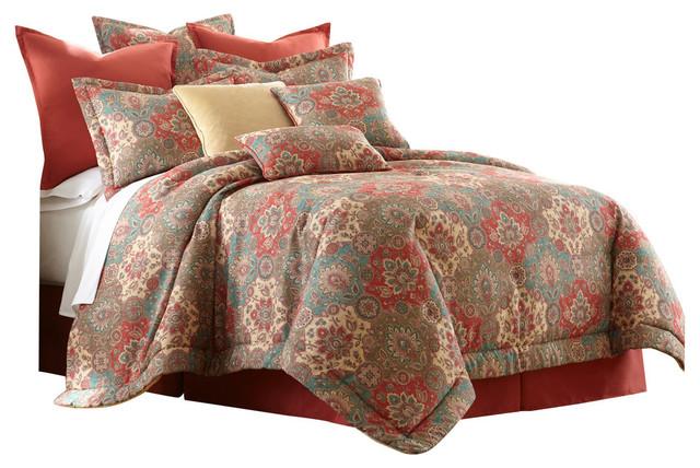 sherry kline aladdin 4piece comforter set queen medallion asian comforters