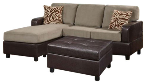 hollywood decor lille sectional couch with matching ottoman and accent pillows sectional sofas. Black Bedroom Furniture Sets. Home Design Ideas