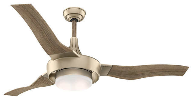 "Casablanca 64"" Perseus Metallic Sunsand Ceiling Fan With Light And Wall Control"