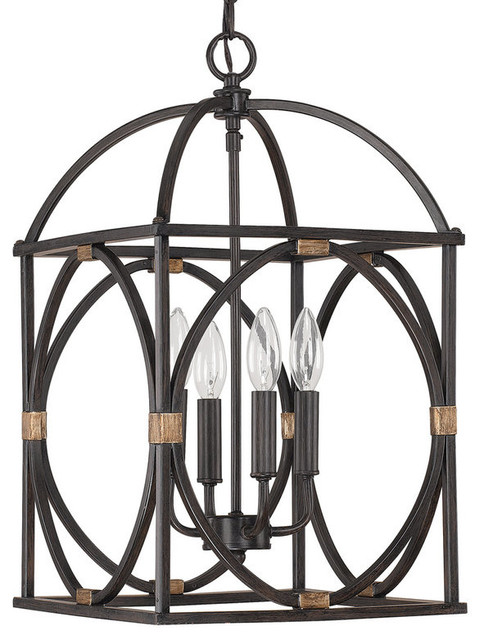 Capital Lighting 4521 Foyer Collection 4 Light Cage Pendant.