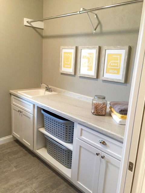 Amberwood - 2015 VHBA Summer Parade Home craftsman-laundry-room