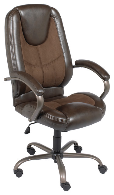 Espresso Genuine Leather Manager Chair.