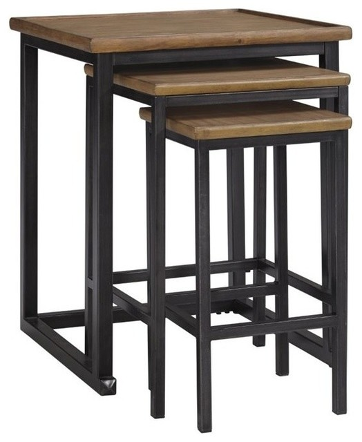 Ashley Traxmore Nesting End Tables Warm Brown 3 Piece