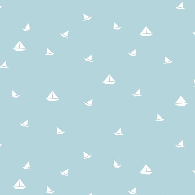 Small Boats Wallpaper Roll, 48x1000 cm