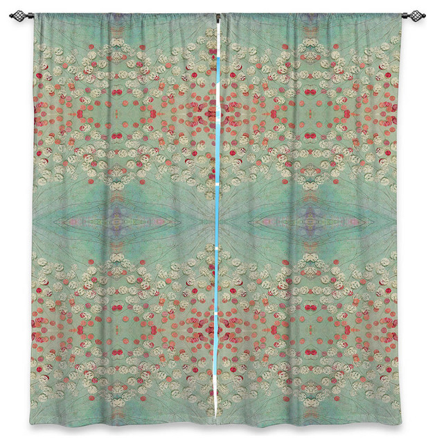 Dianoche Unlined Window Curtains By Paper Mosaic Studio Abstract Turquoise Red Eclectic