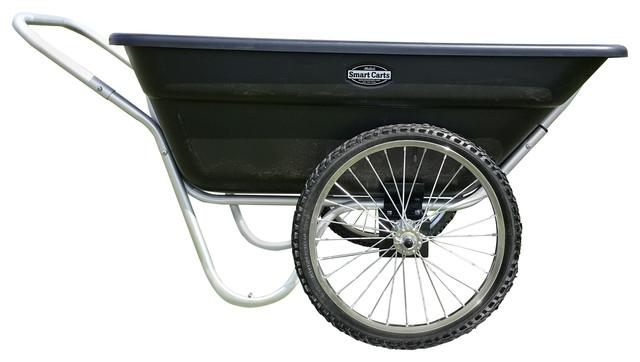 Beau Garden Utility Cart Original Smart Cart 7 Cubic Feet, Spoke Wheels