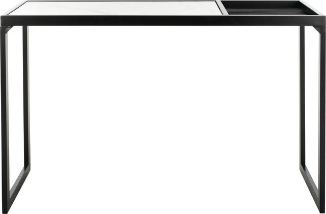 Zuri Console Table - White, Black