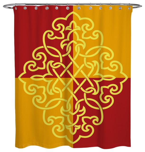 Shower Curtain Arabian 4 Square Crest Mediterranean Shower