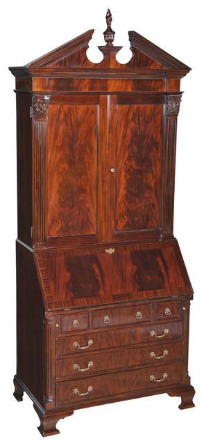 Niagara Furniture Large Mahogany Secretary Desk Traditional - Mahogany furniture