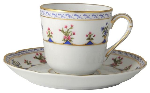 Bernardaud Chateaubriand Blue Coffee Cup (Tall)