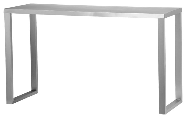Century Console Brushed Metal Modern Console Tables