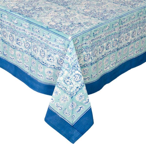 Charmant La Mer Tablecloth, Aqua, Square, 59x59