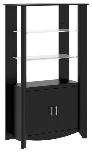 Bush Furniture 2-Door Tall Library Storage - Contemporary - China Cabinets And Hutches - by ...