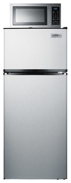 Refrigerator-Microwave Combination With A Single Plug Mrf1159ss.