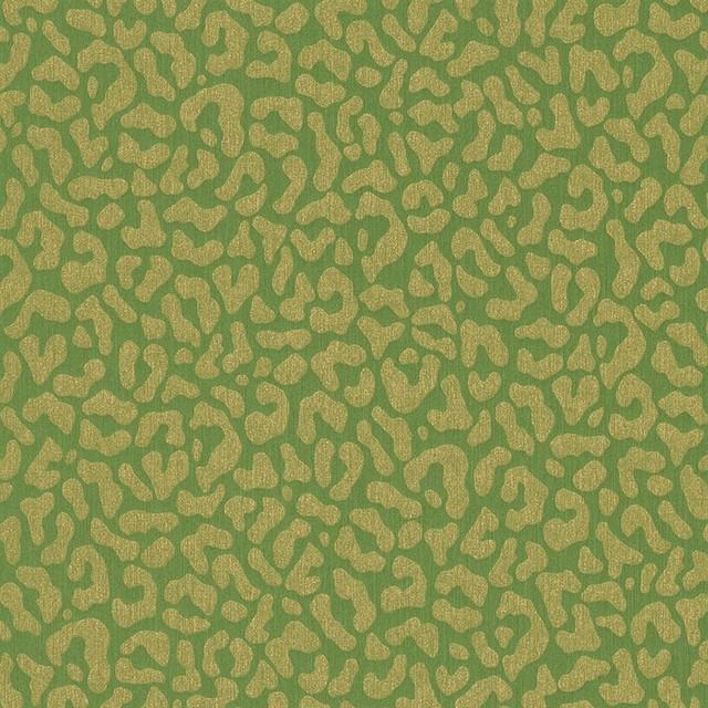 Faux Leopard Print Wallpaper Lime Green Double Roll