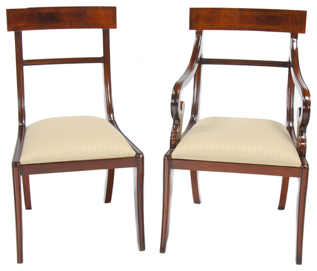 Niagara Furniture, Set Of 10, Regency Dining Chairs, Federal Style Chairs  Traditional