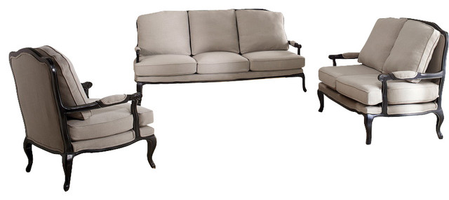 Baxton Studio Antoinette Classic Antiqued French Sofa, Set