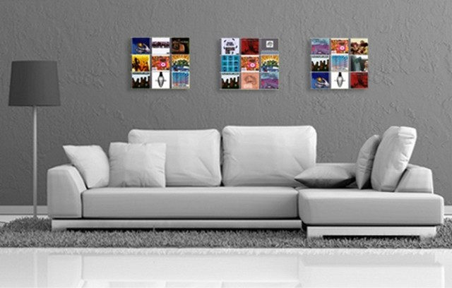 Desig Media Wall Storage CD Wall3x3   Wall Shelfes That Show Your Music  Favour Modern
