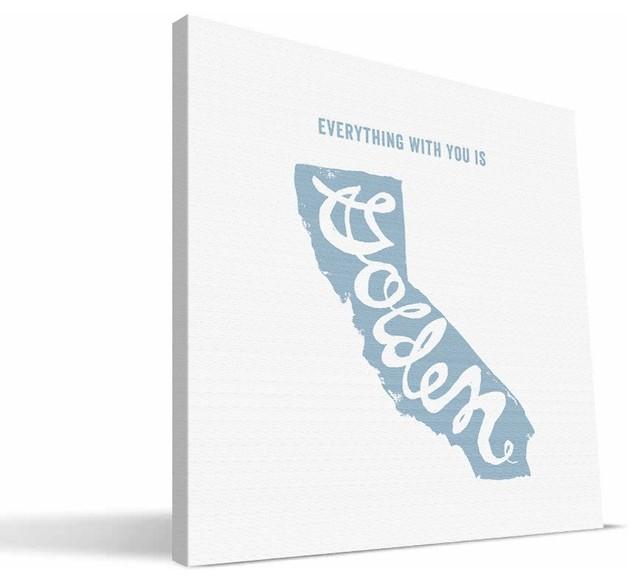 California State Motto Canvas Print, 12