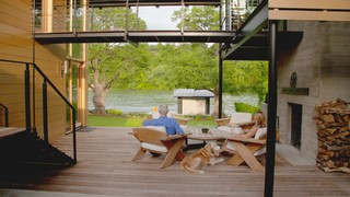 Houzz Tour A Modern Lakeside Home Overcomes Building Constraints