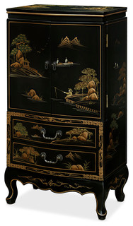 Jewelry Armoire Lingerie Chest With Chinoiserie Motif ...