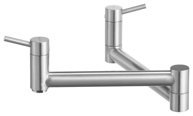 Blanco 441195 Cantata Pot Filler Wall Mount Kitchen Faucet, Satin Nickel.