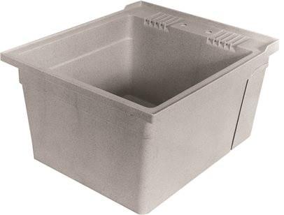 "Zurn 18 Gallon Wall Mounted Multipurpose Sink, 26x22 3/8x34"", White."