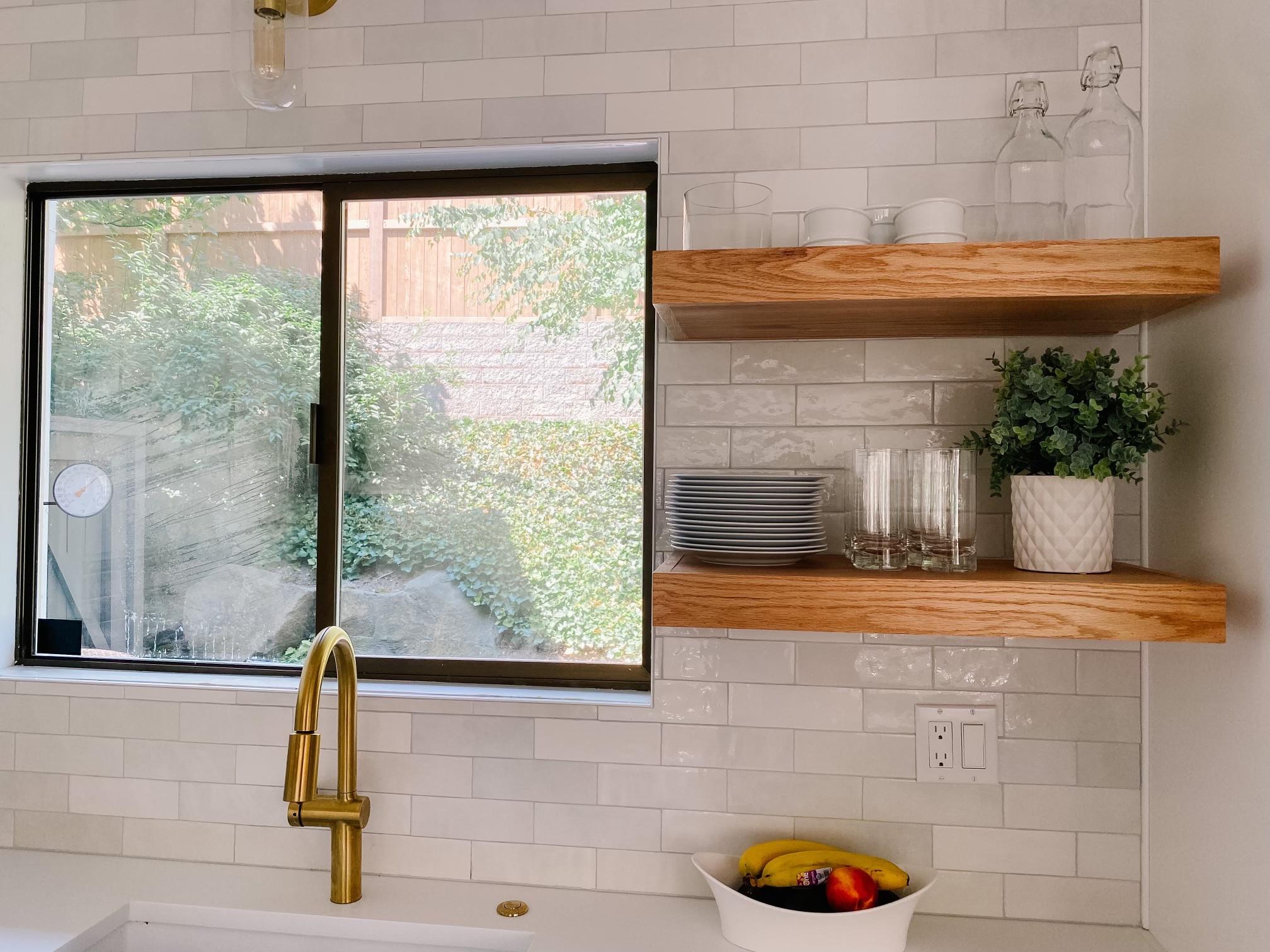 Kitchen Float Shelves