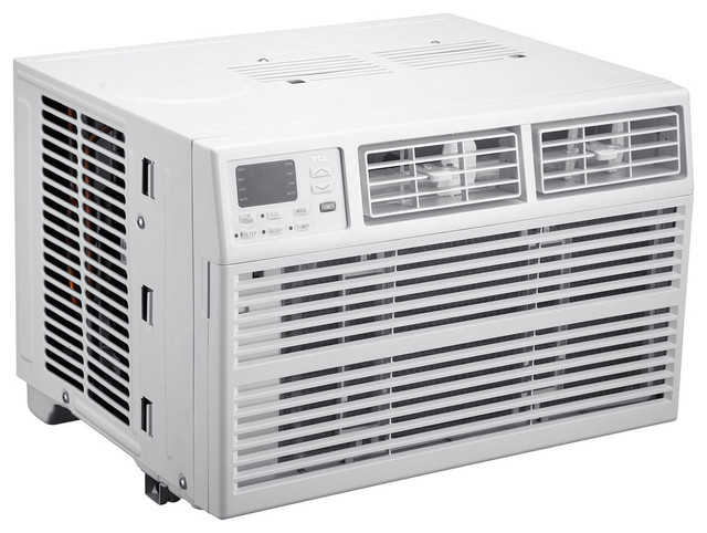 Energy Star 8,000 Btu 115v Window-Mounted Air Conditioner With Remote Control.