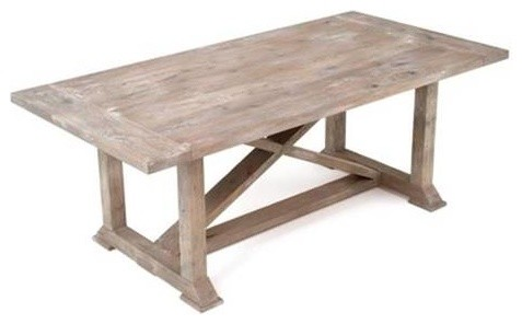 Rustic Chic Farmhouse Harvest Dining Table, 72\