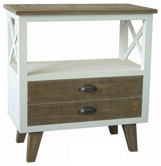 Benzara, Woodland Imports, The Urban Port Urban 2-Drawer Cabinet - Kitchen Islands And Kitchen ...