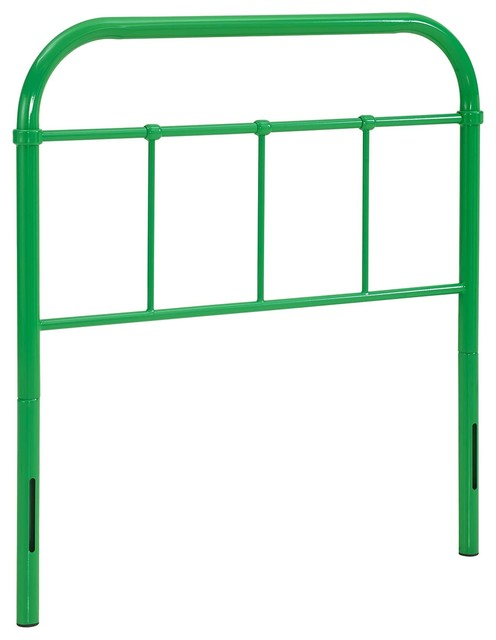 Serena Twin Steel Headboard, Green.