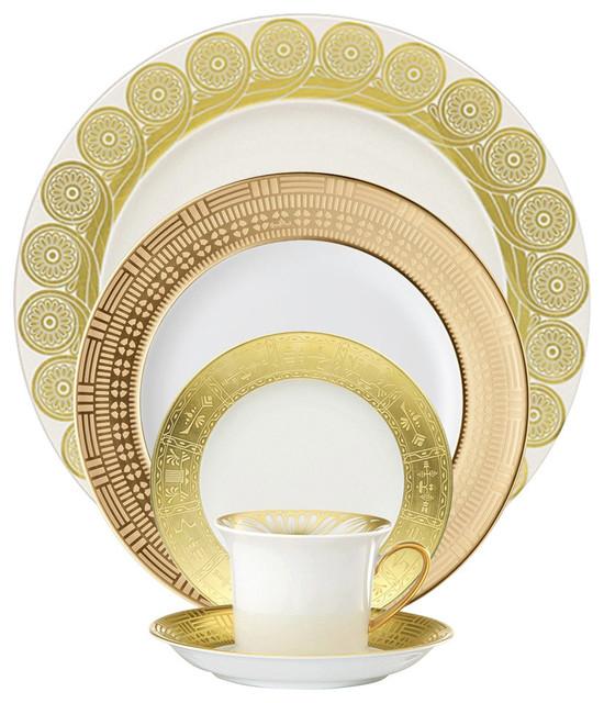 Mediterranean Style Dinnerware: Rosenthal Classic Peris Gold Platter