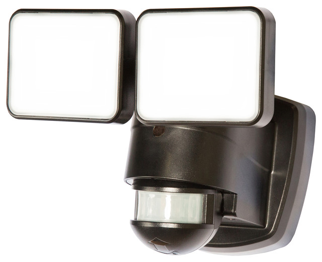 Heathco 1250 Lumen Black Led Motion Activated Security Light.