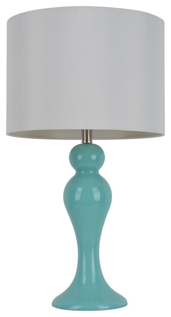 Light Blue Table Lamp.