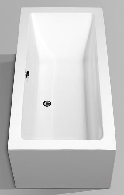 "Wyndham Collection 60"" Melody White Soaking Bathtub With Drain, Chrome."