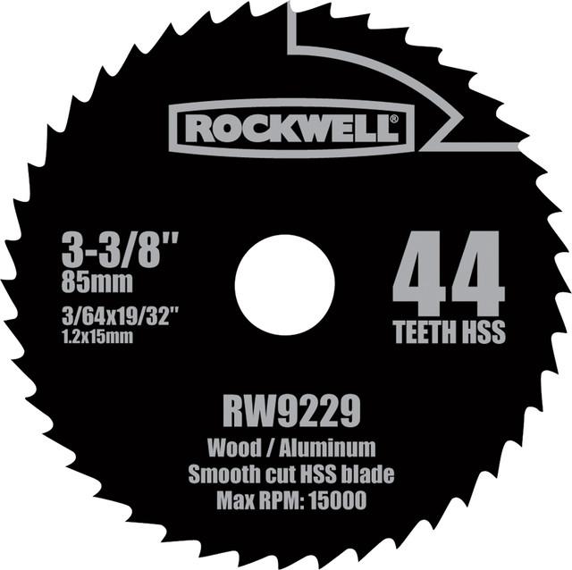 Rockwell 3-3/8 Versa Cut 44 Teeth Hss Circular Saw Blade.