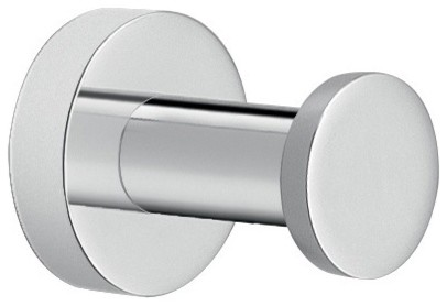 Modern Round Bathroom Hook Chromed Brass Contemporary Robe