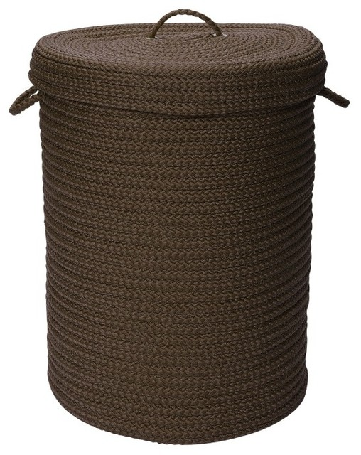 """Simply Home Hamper With Lid Rug, Mink 18""""x18""""x30""""."""
