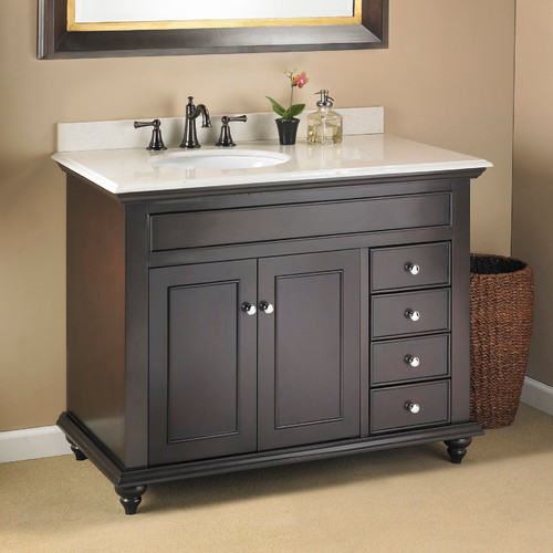 Right side offset sink - Bathroom vanity with right offset sink ...