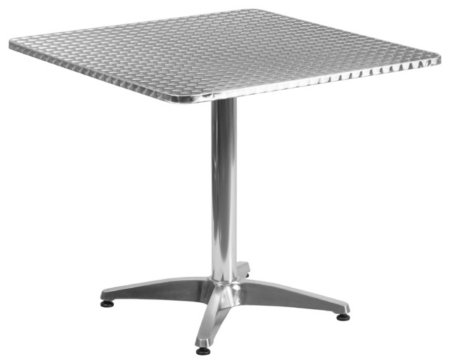 31.5&x27;&x27; Square Aluminum Indoor-Outdoor Table With Base.