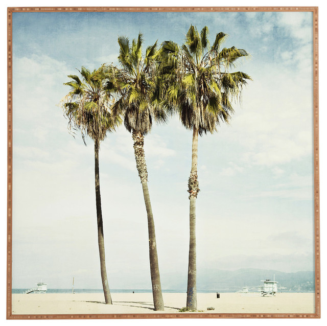 "Venice Beach Palms Framed Wall Art, 30""x30""."