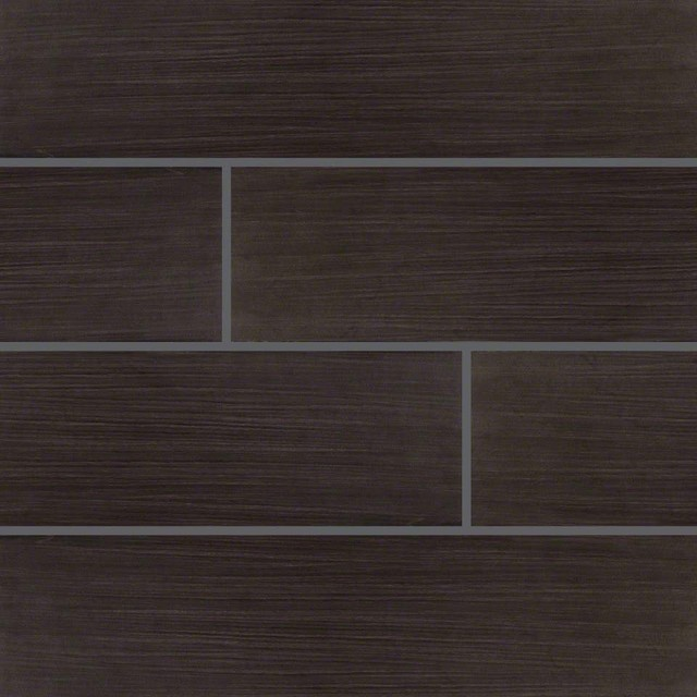 6x24 Sygma Ebony Matte Ceramic Transitional Wall And Floor Tile