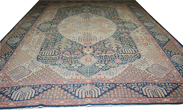 Consigned Antique 11 X17 Palace Size Persian Tabriz Rug