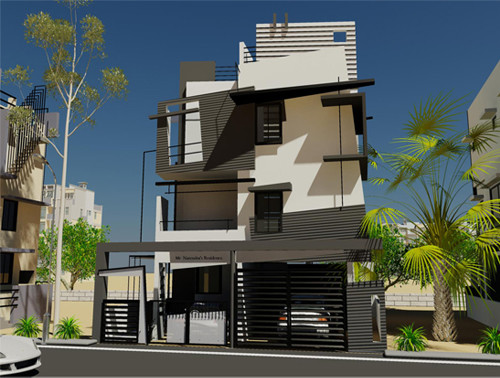 Modern residential house plans contemporary home designs for Modern tower house designs