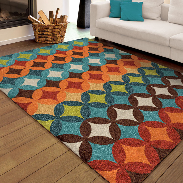 "Bright Dotted Berkley Indoor/outdoor Area Rug, Multicolor, 5&x27;2""x7&x27;6""."