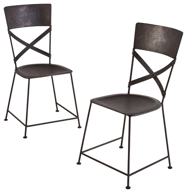 Jabalpur Dining Chairs Set Of 2 Industrial Dining