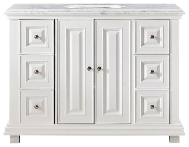"Silkroad Exclusive 48"" Transitional Bathroom Vanity, Single Sink Cabinet."