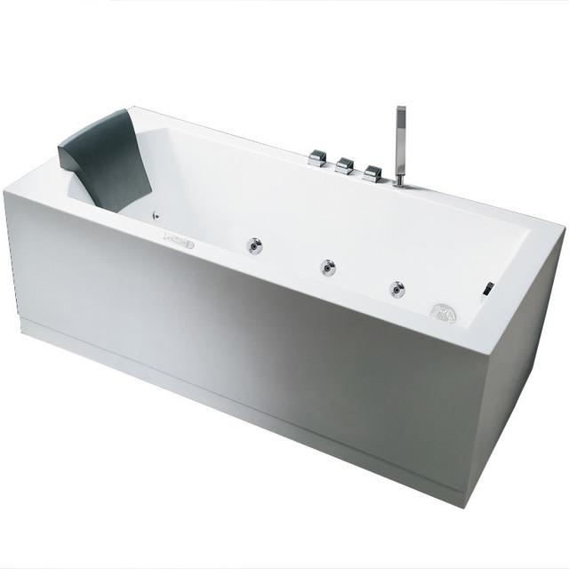 Ariel Platinum 59 Modern Whirlpool Bathtub 59x30x25