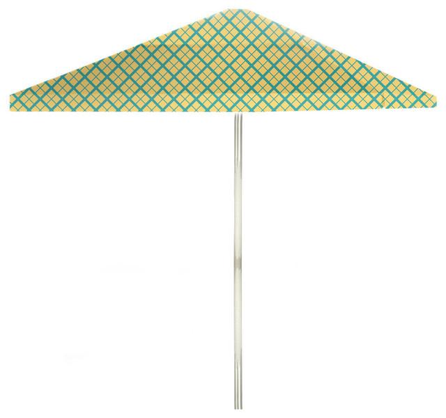 Outdoor Patio Umbrella With Push Button Tilt, Tan, 9&x27;
